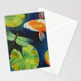 Kohaku Koi and Dragonfly Stationery Cards