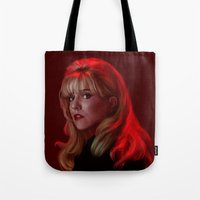 laura palmer Tote Bags featuring Laura Palmer from Twin Peaks by Annike