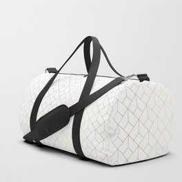 Golden geometry Duffle Bag