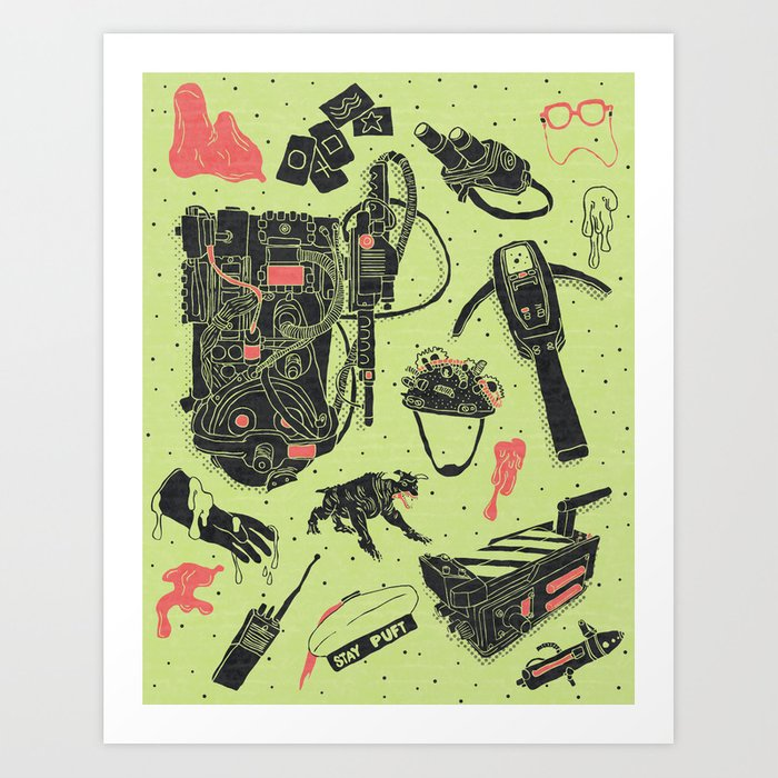 Artifacts: Ghostbusters Art Print