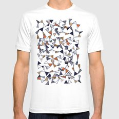 Triangles, Triangles, Triangles. Mens Fitted Tee MEDIUM White