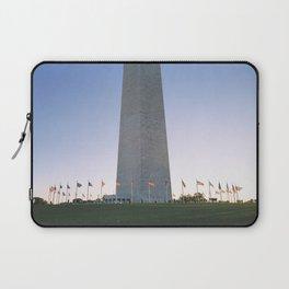 Flag ring around the Washington Monument Laptop Sleeve