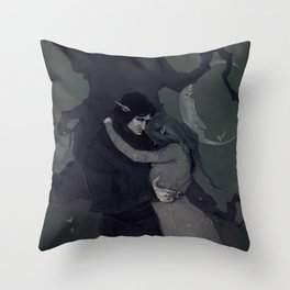 Dark Elven Moon Throw Pillow