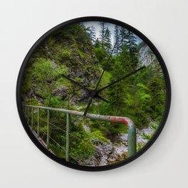Alpine gorge Wall Clock