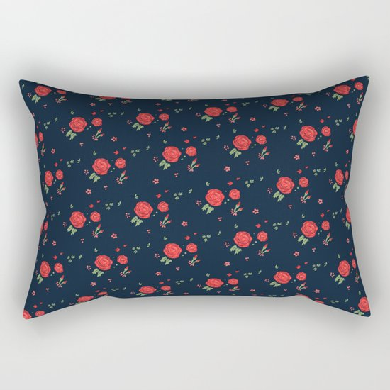 Classic western rose pattern Rectangular Pillow