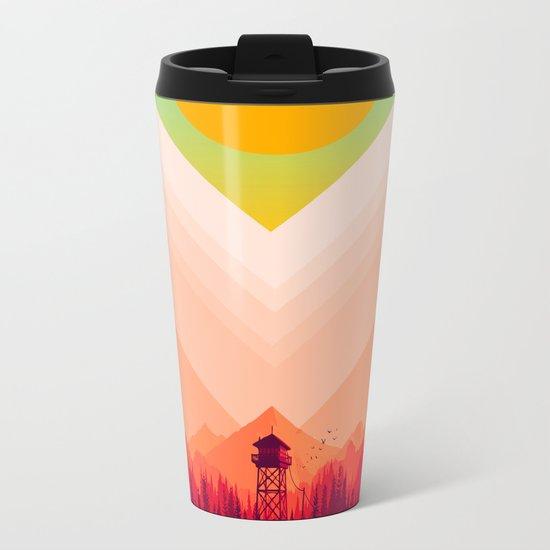 Summer Nature Metal Travel Mug
