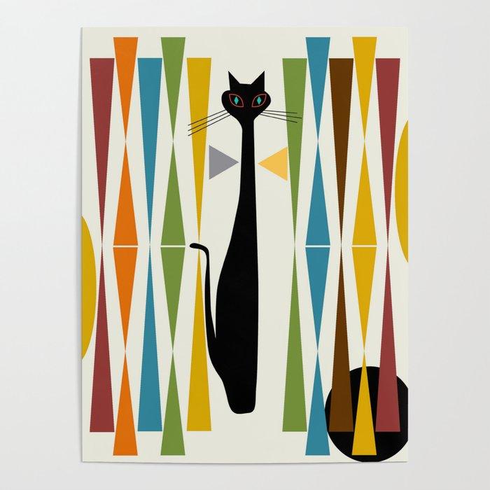 Mid-Century Modern Art Cat 2 Poster