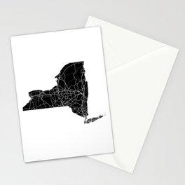 New York Black Map Stationery Cards