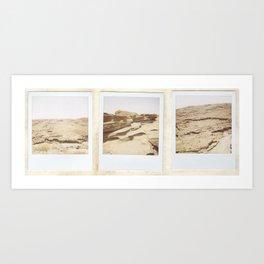 Desert Polaroids Art Print
