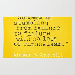 Winston S. Churchill about success Rug
