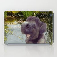 baby elephant iPad Cases featuring Baby Elephant by Erika Kaisersot