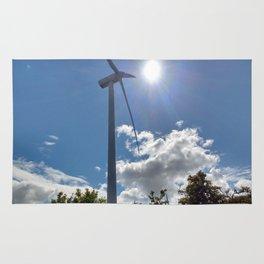Wind Farm in the Sun Rug