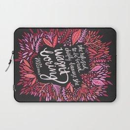 Zelda Fitzgerald – Pink on Charcoal Laptop Sleeve