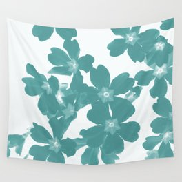 Floral Teal Wall Tapestry