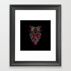 owl pink Framed Art Print
