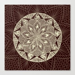 Maroon Mandala 2 Canvas Print