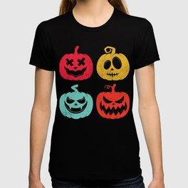 Halloween Pumpkins Jack-O-Lanterns Vintage Spooky Scary T-shirt