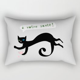 party animals - french cat Rectangular Pillow