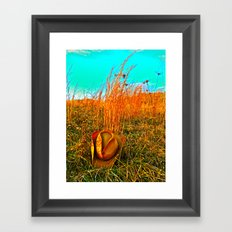 Lost Cowboy Hat  Framed Art Print