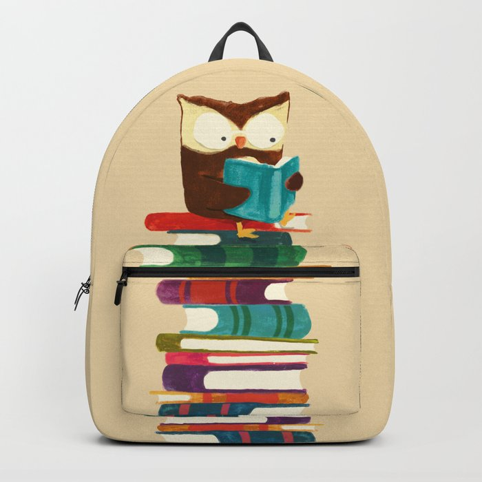 Owl Reading Rainbow Rucksack