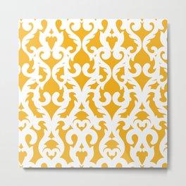 Modern Baroque Yellow Metal Print