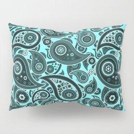 Blue Spring Paisley Pattern Pillow Sham