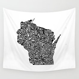 Typographic Wisconsin Wall Tapestry