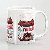 nutella Mugs featuring Nutella by Angela Dalinger