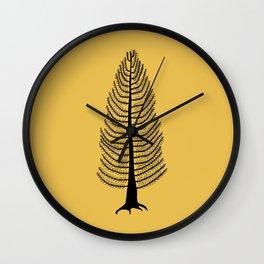 West Coast Cedar Tree Mustard Wall Clock