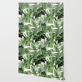 Tropical Jungle Leaves Pattern #12 #tropical #decor #art #society6 Wallpaper
