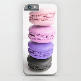 macaroon tower Pink Lavender Slate iPhone Case