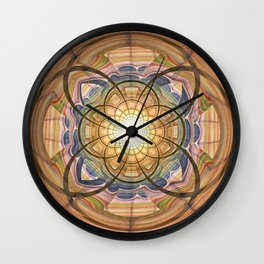 Groovy mandala with wild patterns Wall Clock
