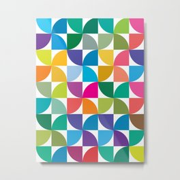 Geometrical work - Colours rotation Metal Print