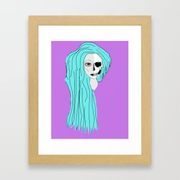 Lady Skeleton Framed Art Print