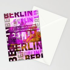 Berlin pop art typography illustration Stationery Cards