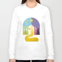 rapunzel Long Sleeve T-shirts featuring Rapunzel by Rob Yeo Design