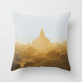 Bagan Temples II Throw Pillow