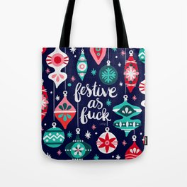 Festive As Fuck – Navy Palette Tote Bag