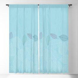 LEAVES ENSEMBLE BLUE Blackout Curtain