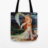 venus Tote Bags featuring Venus  by ShekariArt