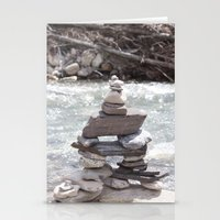 allyson johnson Stationery Cards featuring Johnson Canyon Inukshuk by RMK Creative