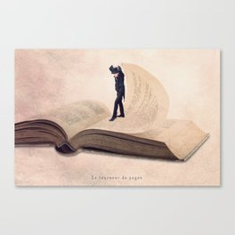 The page turner Canvas Print