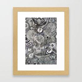 On my Mind Detail Framed Art Print