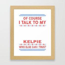 Kelpie Ugly Christmas Sweater Framed Art Print