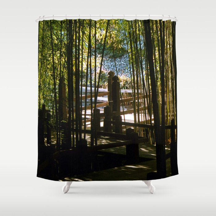 Through The Bamboo Shower Curtain by blakcirclegirl | Society6