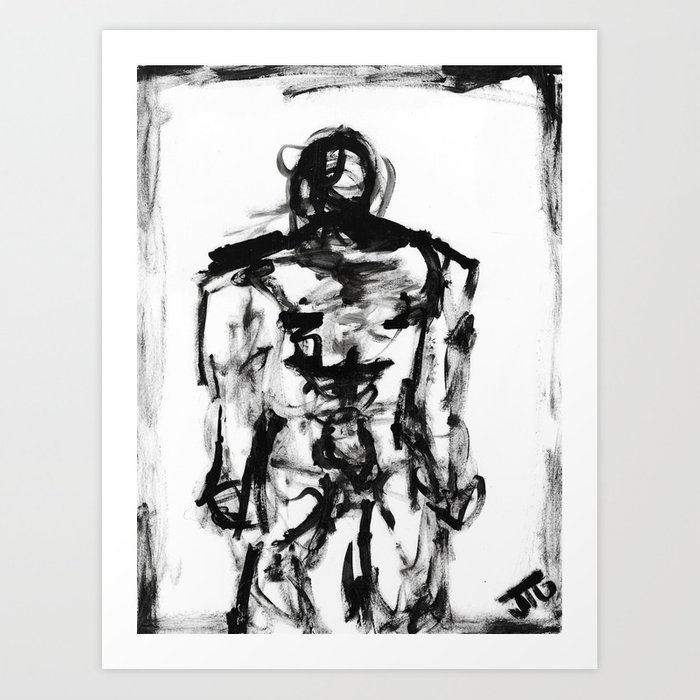 """Hating Me"" Art Print"
