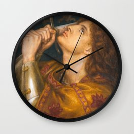 Joan of Arc by Dante Gabriel Rossetti, 1864 Wall Clock