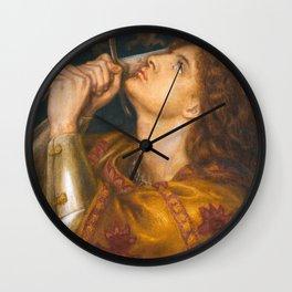 Joan of Arc by Dante Gabriel Rossetti, 1864 Wall Clock