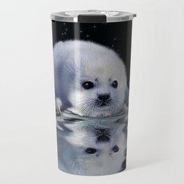 Destiny - Harp Seal Pup & Ice Floe Travel Mug