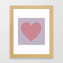Heart Overload Valentine Issues Framed Art Print